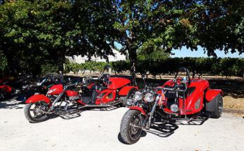 Moto Club d'Usseau à L'écomusée du Cognac en septembre