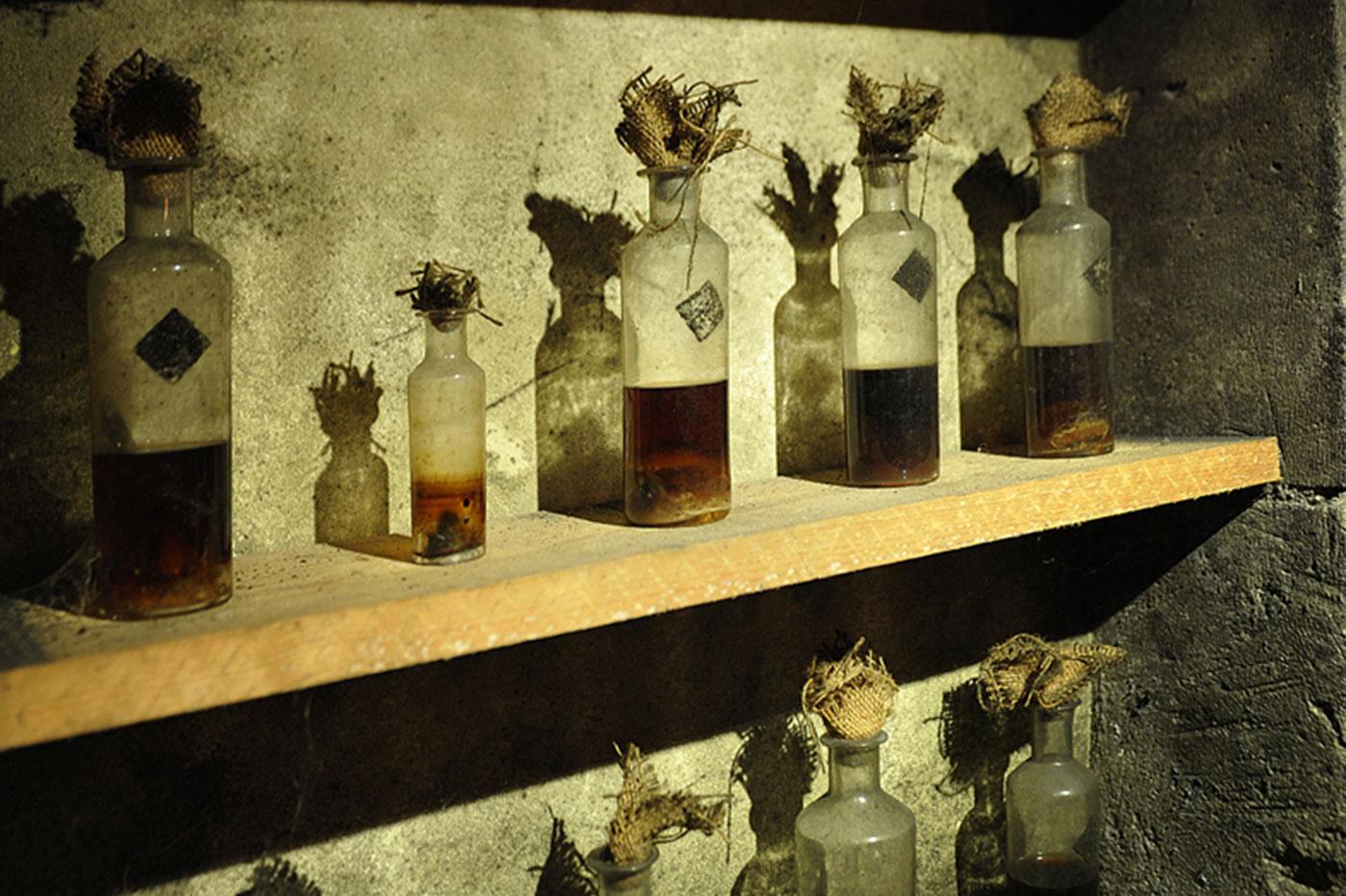 Chai des arômes à l'Ecomusée du Cognac