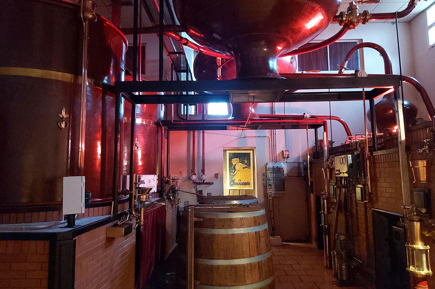 Distillerie à l'Ecomusée du Cognac
