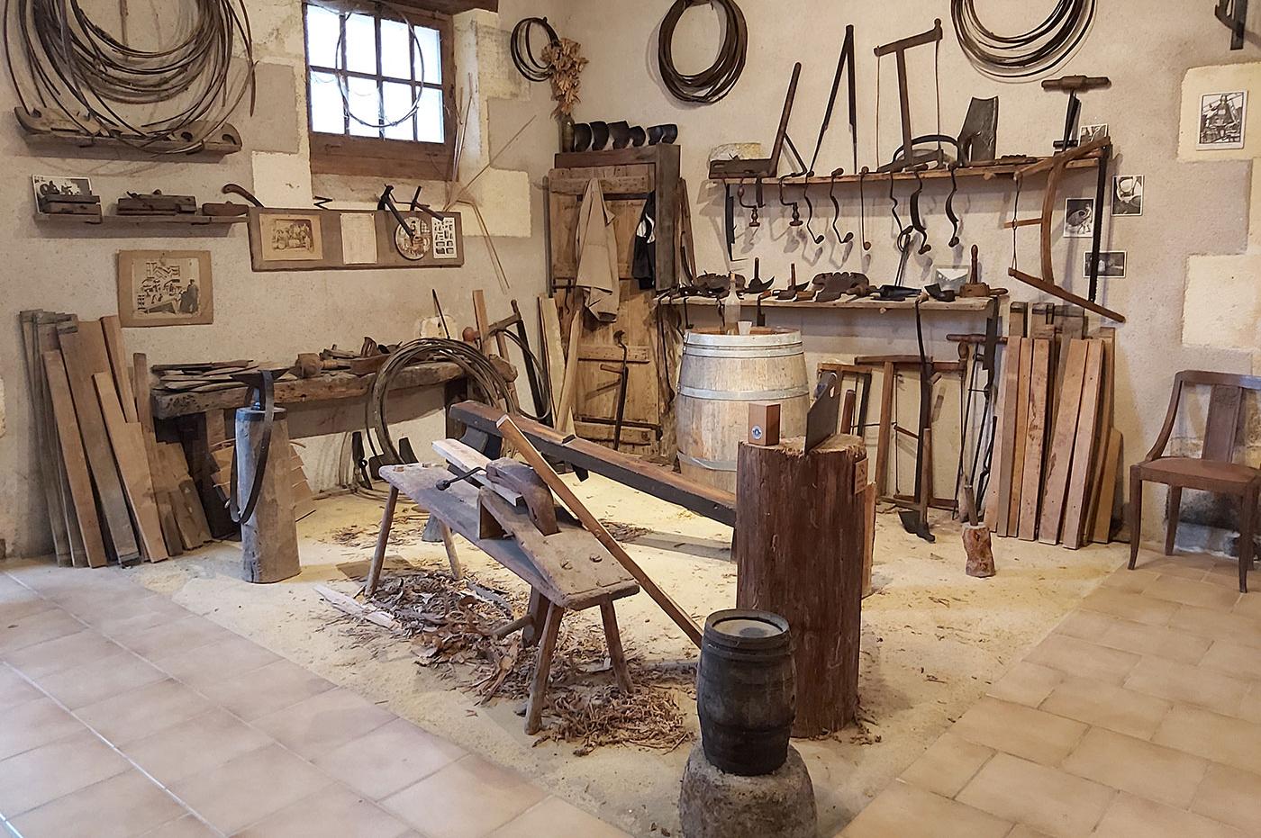 Musée des outils à l'Ecomusée du Cognac