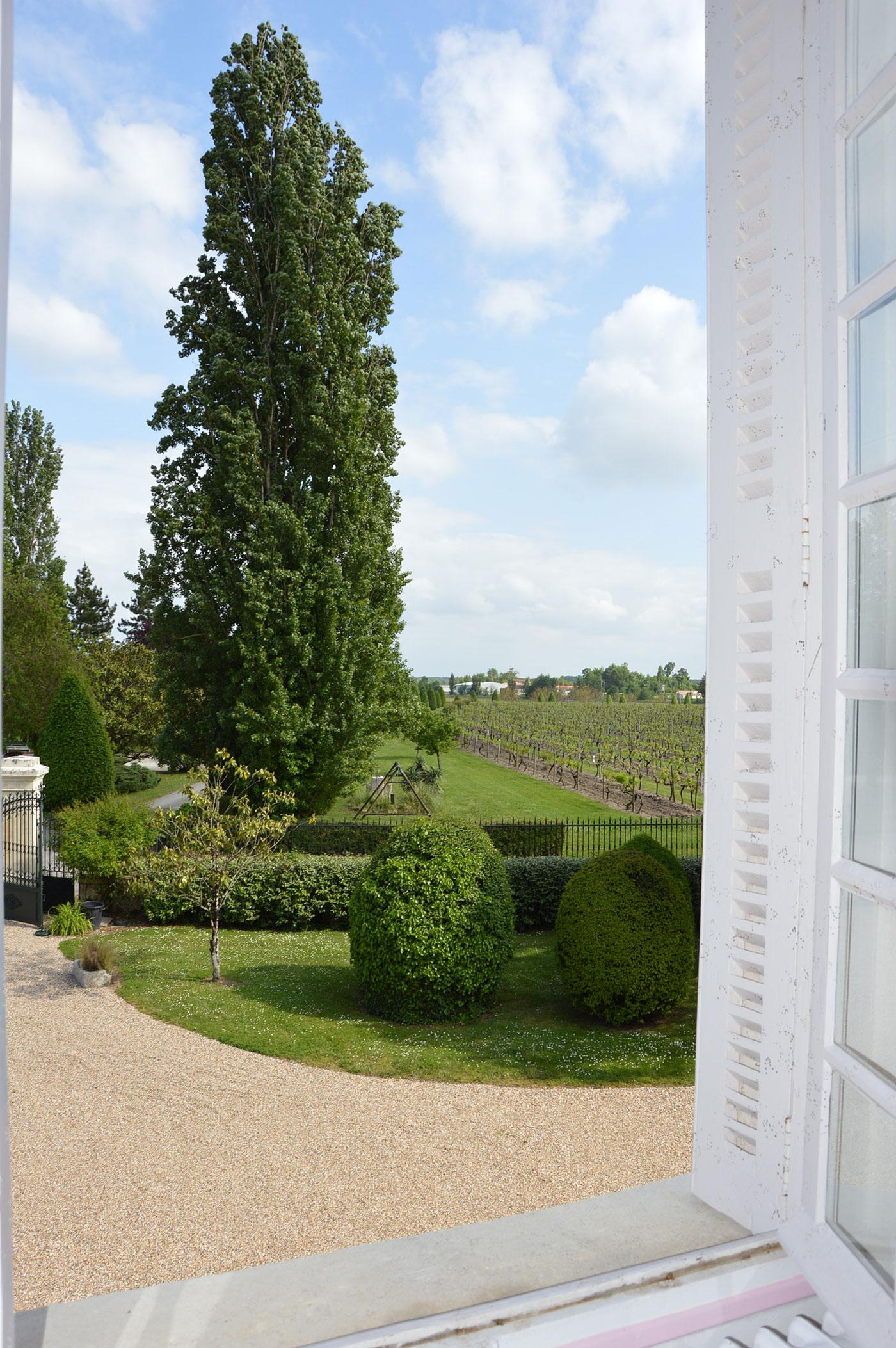 Vue depuis la fenêtre Chambre Borderies