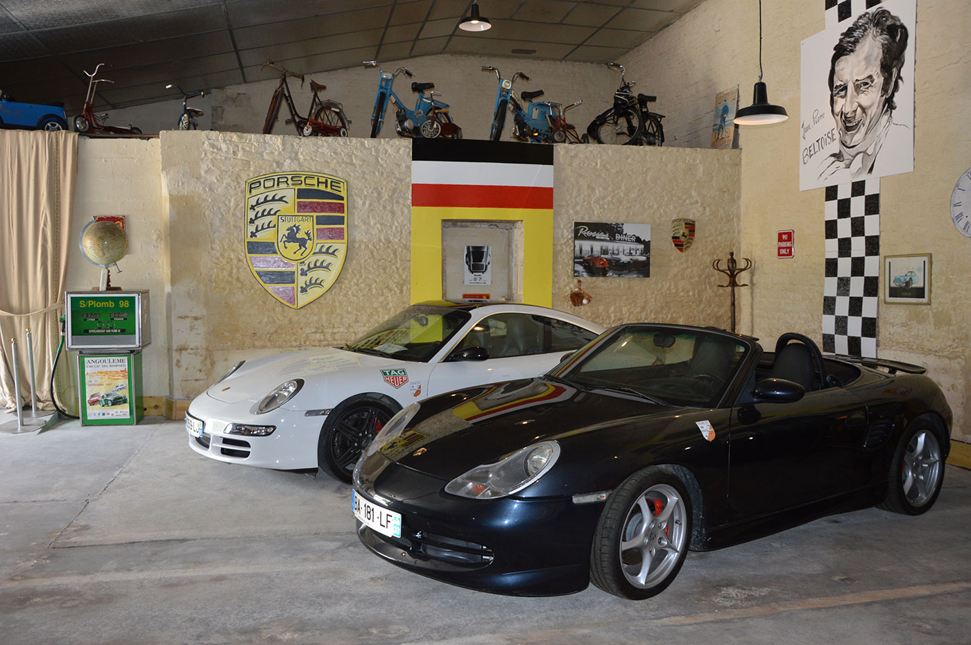 the garage at the Ecomuseum of Cognac