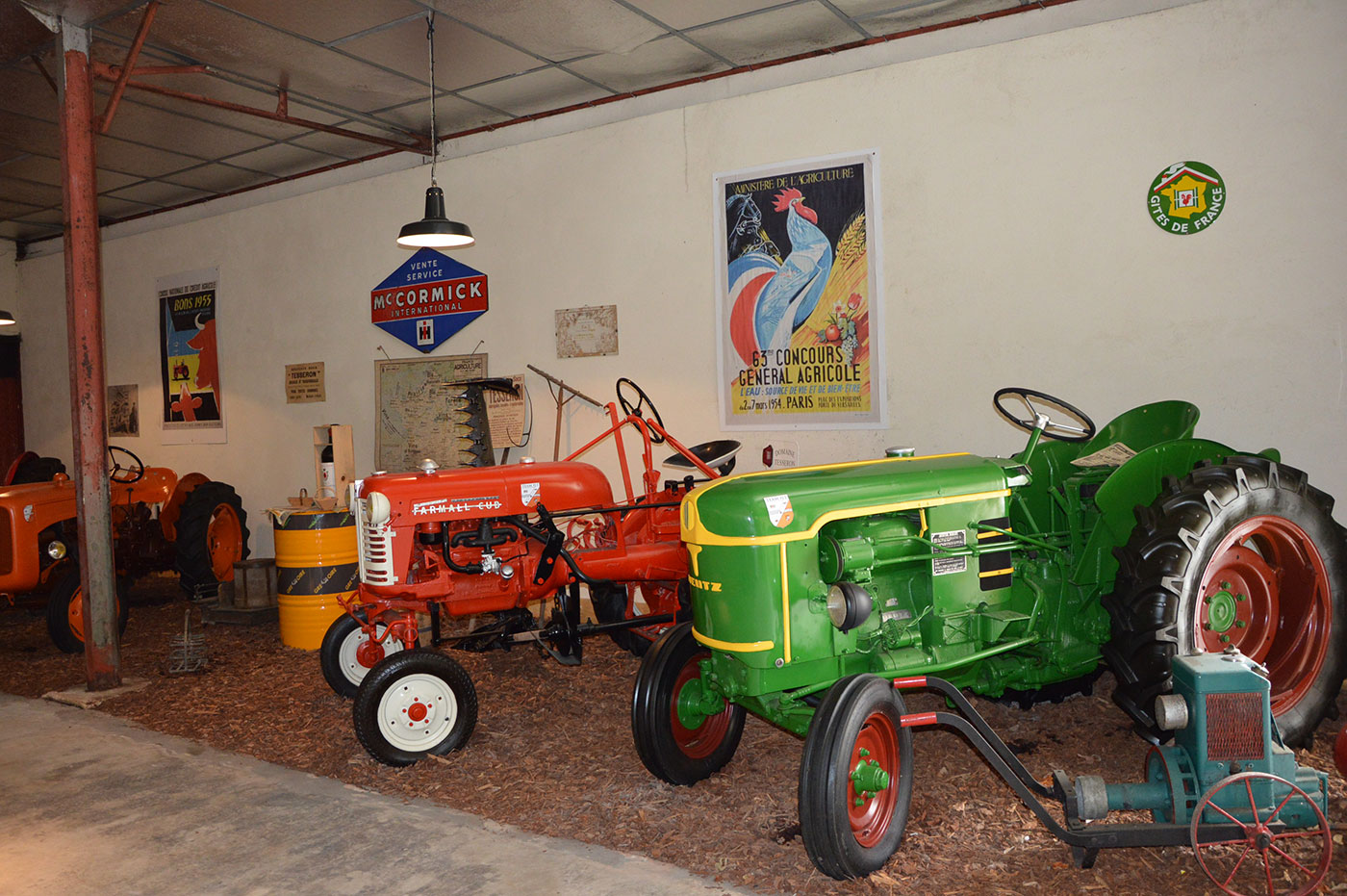 Old tractors at the Ecomuseum of Cognac