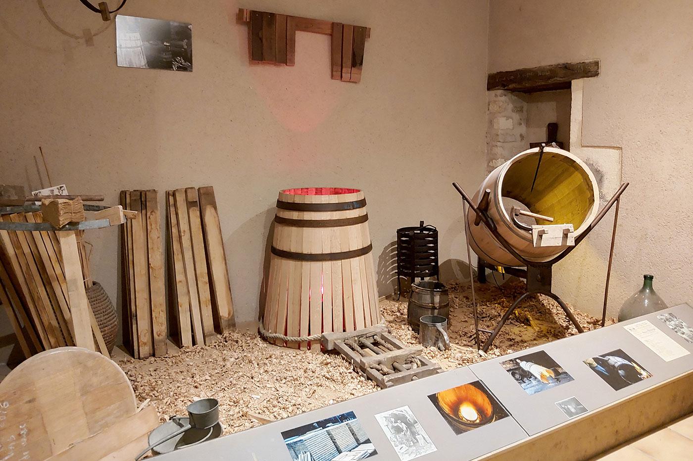 Barrels at the Ecomuseum of Cognac