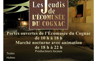 Marché de producteurs locaux à l'Ecomusée du Cognac