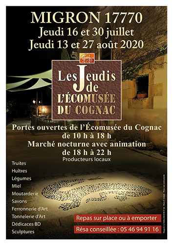 Night market at the Ecomuseum of Cognac